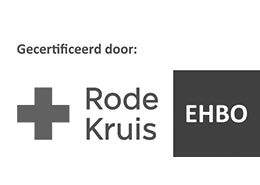 Het logo van Rode Kruis EHBO